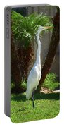 Great Egret Just Strutting Impressionism 1 Portable Battery Charger