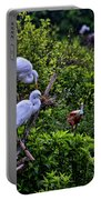 Great Egret Pair Portable Battery Charger