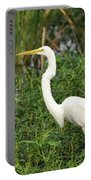 Great Egret Walking Portable Battery Charger