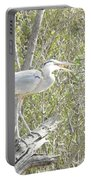 Great Heron With Mouth Open Portable Battery Charger