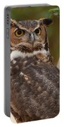 Great Horned Owl In A Tree 3 Portable Battery Charger