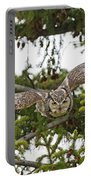 Great Horned Owl Takeoff Portable Battery Charger