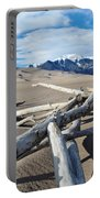 Great Sand Dunes National Park Driftwood Portrait Portable Battery Charger