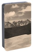 Great Sand Dunes Panorama 1 Sepia Portable Battery Charger