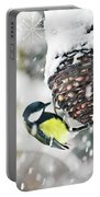 Great Tit In The Snow Card Portable Battery Charger