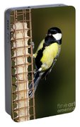 Great Tit On Feeder  Portable Battery Charger