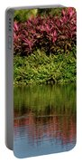 Great White Egret Hunting In A Pond In Mexico With Iguana And Re Portable Battery Charger
