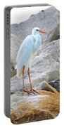Great White Heron Of Florida Portable Battery Charger