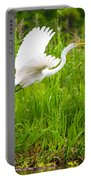 Great White Heron Takeoff Portable Battery Charger