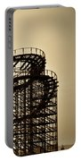 Great White Roller Coaster - Adventure Pier Wildwood Nj In Sepia Triptych 3 Portable Battery Charger