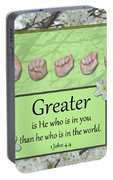 Greater Is He Portable Battery Charger