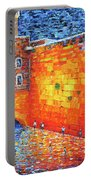 Wailing Wall Greatness In The Evening Jerusalem Palette Knife Painting Portable Battery Charger