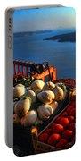 Greek Food At Santorini Portable Battery Charger