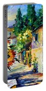 Greek Noon - Palette Knife Oil Painting On Canvas By Leonid Afremov Portable Battery Charger