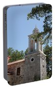 Greek Village Church In The Forest Portable Battery Charger