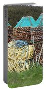 Green - Crab Pots Portable Battery Charger