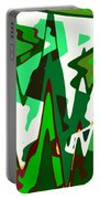 Green Abstract Squared #2 Portable Battery Charger