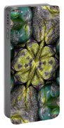 Green And Blue Stones 2 Portable Battery Charger