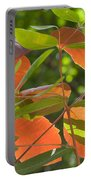Green And Orange Leaves Portable Battery Charger