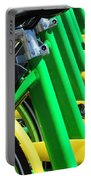 Green And Yellow Bicycles Portable Battery Charger