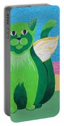 Green Angel Cat Portable Battery Charger