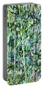 Green Bamboo Tree In A Garden Portable Battery Charger