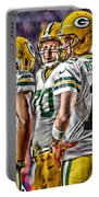 Green Bay Packers Team Art 2 Portable Battery Charger