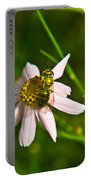 Green Bee Feeding Portable Battery Charger