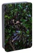 Green-black Cucculent Plant. Big Bush Portable Battery Charger