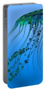 Green Blue Jellyfish Portable Battery Charger