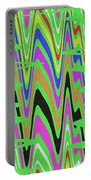 Green Color Abstract #140 Portable Battery Charger