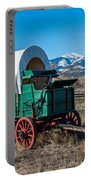 Green Covered Wagon Portable Battery Charger