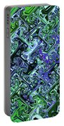 Green Crystal Digital Abstract Portable Battery Charger