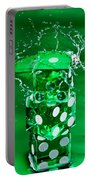 Green Dice Splash Portable Battery Charger
