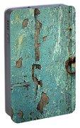 Green Door. Essaouira. Morocco Portable Battery Charger