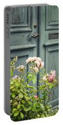 Green Door With Rosebush Portable Battery Charger