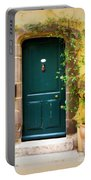 Green Door With Vine Portable Battery Charger