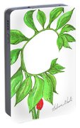 Green Dragon With Fruit Cluster Portable Battery Charger