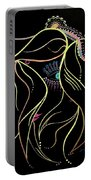 Green Eyed Lady Portable Battery Charger