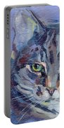 Green Eyed Tabby - Thomasina Portable Battery Charger