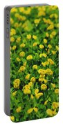 Green Field Of Yellow Flowers 1 Portable Battery Charger