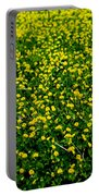Green Field Of Yellow Flowers 3 Portable Battery Charger