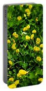 Green Field Of Yellow Flowers 4 Portable Battery Charger