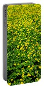 Green Field Of Yellow Flowers Portable Battery Charger
