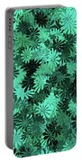 Green Floral Pattern Portable Battery Charger