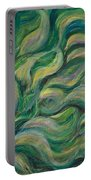 Green Flowing Flower Portable Battery Charger