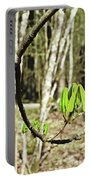 Green Foliage Forest Portable Battery Charger