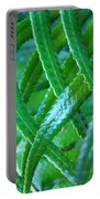 Green Forest Fern Fronds Art Prints Baslee Troutman Portable Battery Charger