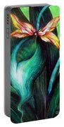 Green Golden Exotic Orchid Flower Portable Battery Charger