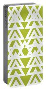 Green Graphic Diamond Pattern Portable Battery Charger